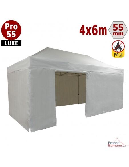 Barnum Alu Pro 55 LUXE M2 4mx6m BLANC + Pack Côtés 580gr/m²
