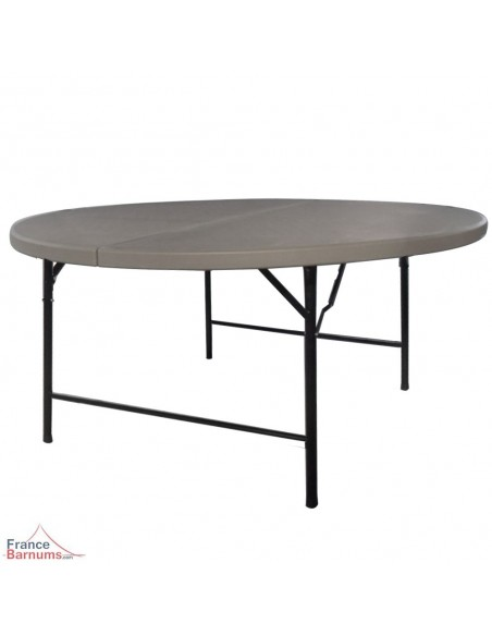 Table pliante ronde format valise