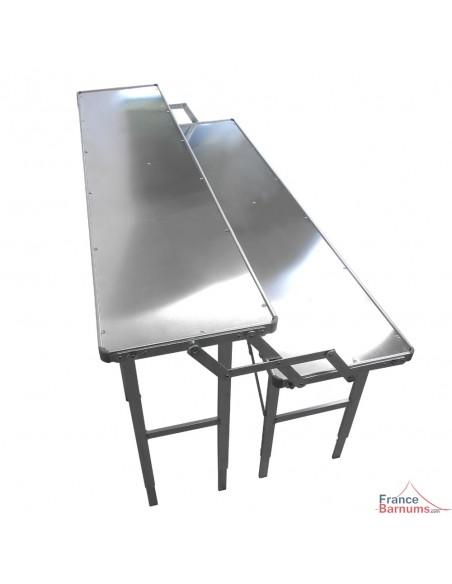 Etalage de marché à 2 niveaux en aluminium