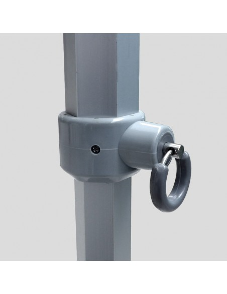 La goupille de la structure de nos barnums Alu Pro 45 Luxe est renforcée et ergonomique
