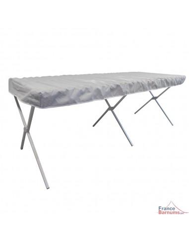 Table Présentoir Pliante - Lit de Camp en aluminium de 2m avec claies