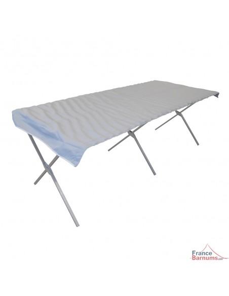 Table Présentoir Pliante en aluminium avec clayette
