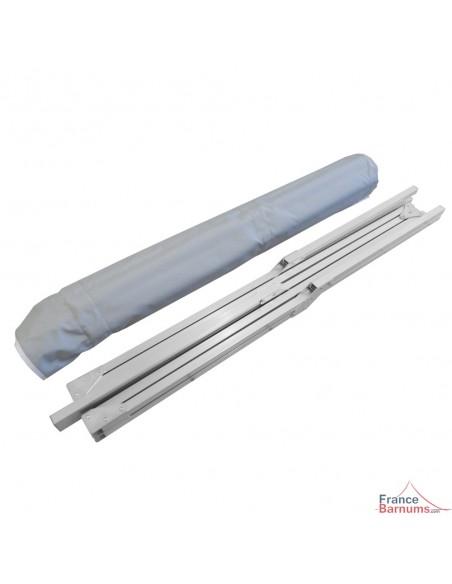 Présentoir pliant de marché en aluminium avec claies