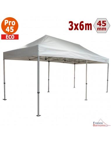 Barnum pliant - Tente pliante Alu Pro 45 ECO 3mx6m BLANC