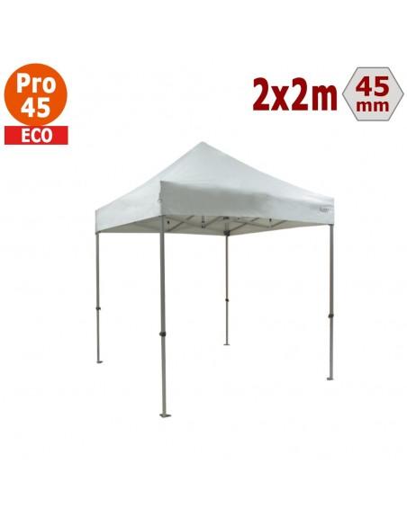 Barnum pliant - Tente pliante Alu Pro 45 ECO 2mx2m BLANC