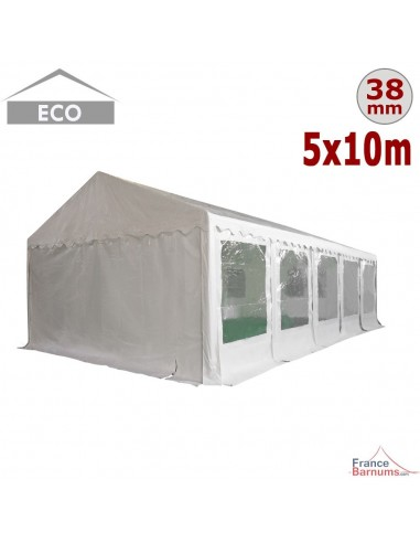 Tente de réception - Chapiteau ECO en PE de 50m² avec Tubes de 38mm