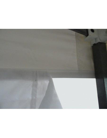 Barnum pliant - Tonnelle Acier Semi Pro 4mx8m BLANC avec Pack 4 Côtés