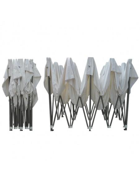 Barnum pliant - Tonnelle Acier Semi Pro 4mx8m BLANC avec Pack Fenetres
