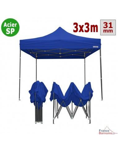 Barnum Acier Semi Pro Bleu 3x3m