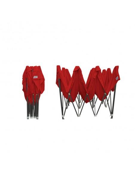 Barnum pliant - Tonnelle Acier Semi Pro 3mx4,5m ROUGE plié