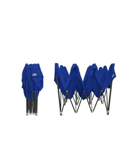 Barnum pliant - Tonnelle Acier Semi Pro 3mx4,5m BLEU plié