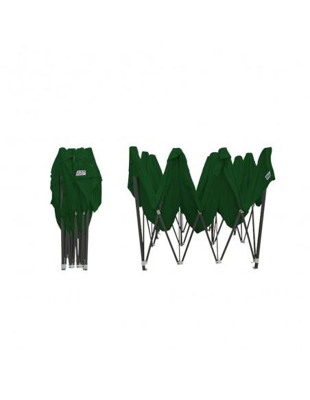 Barnum pliant - Tonnelle Acier Semi Pro 3mx4,5m VERT plié