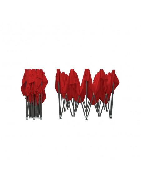 Barnum pliant - Tonnelle Acier Semi Pro 3mx6m Rouge plié
