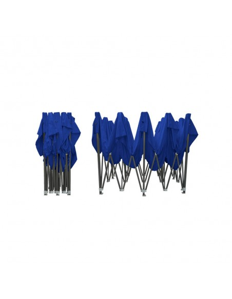 Barnum pliant - Tonnelle Acier Semi Pro 3mx6m BLEU plié