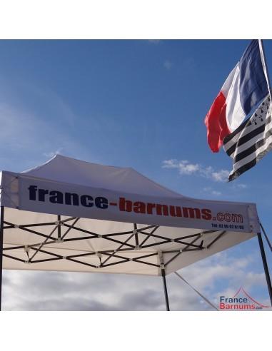 Bandeau amovible - banderole personnalisée 3m en PVC 500g/m²