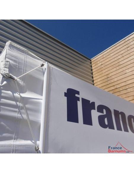 Bandeau amovible - banderole personnalisée 2m en PVC 500g/m²