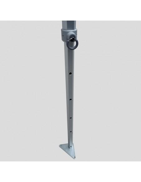 Le coulisseau de pied de nos barnums Pro en aluminium est réglable sur 5 positions