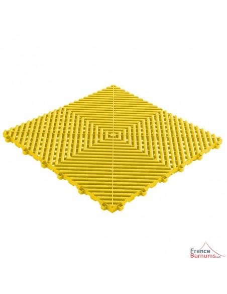 Dalles de sol à clipser de couleur jaune