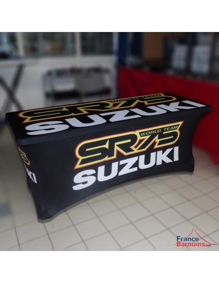Housse nappe personnalisée pour paddock SR75-SUZUKI