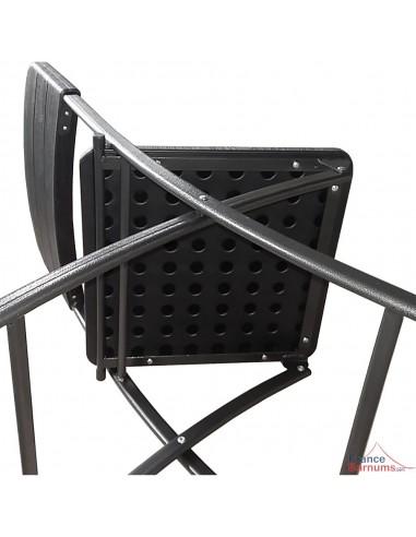 Pliantes En Hdpe Imitation 4 Chaises Réception Noires Bois Pack De k8Xn0wOP