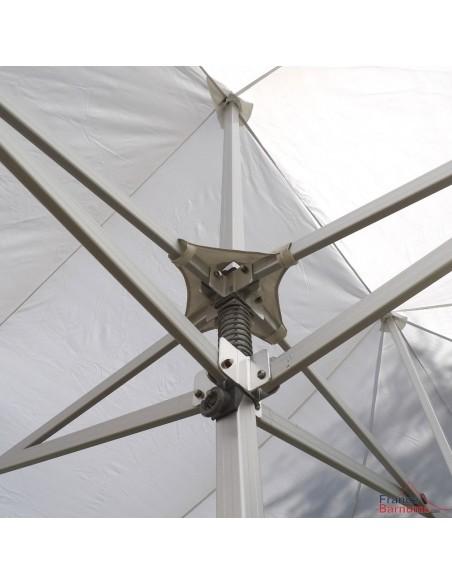 Barnum 6mx9m 54m² Blanc Alu Pro Structure Ø55mm et Pack Fenêtres 380g/m² Norme M2