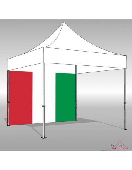 """Paroi """"Drapeau Italien"""" en 3m ou 4,5m"""