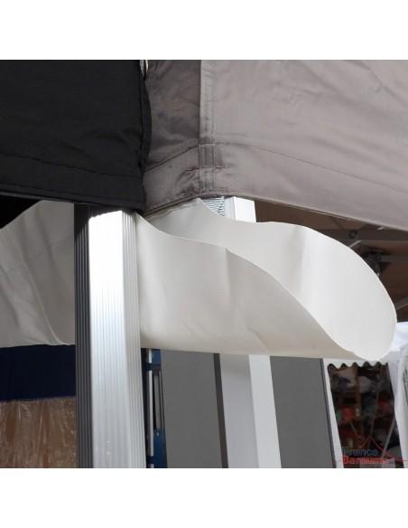 Gouttière en Polyester 380gr/m² avec bec d'écoulement pour joindre 2 barnums pliants