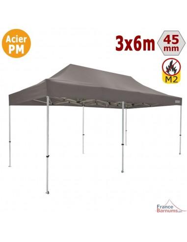 Barnum Pliant - Stand Acier Premium M2 3x6m TAUPE 380gr/m²