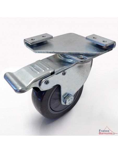Roulette avec frein pour pied de barnum pliant