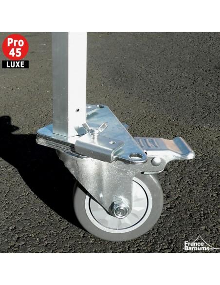 Roulette avec frein adaptée pour nos barnums pliants Alu Pro 45 Luxe