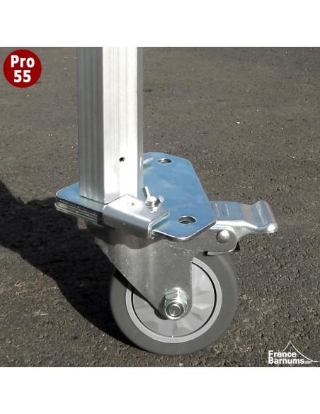 Roulette avec frein adaptée pour nos barnums pliants Alu Pro 55