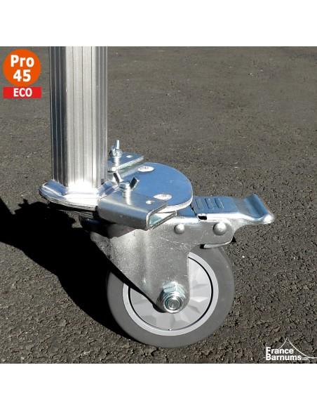 Roulette avec frein adaptée pour nos barnums pliants Alu Pro 45 ECO