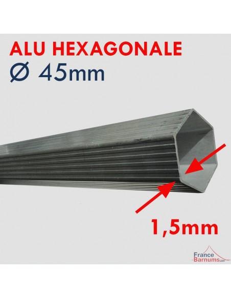Tente pliante Alu Pro 45 ECO avec structure en aluminium de 45mm de diamètre et de 1,5mm d'épaisseur