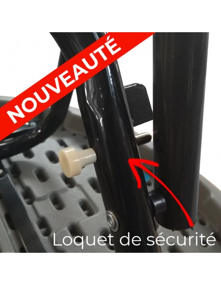 Loquet de blocage permet de maintenir les pieds de votre table haute pliante de réception en position d'usage.