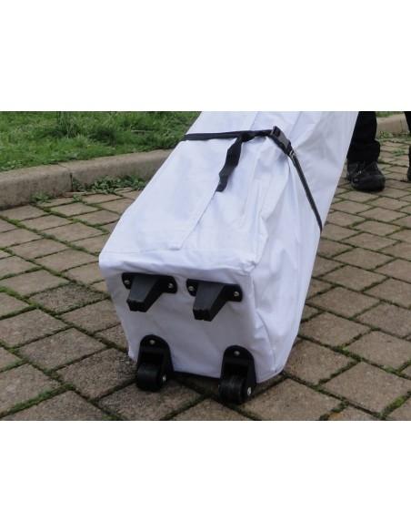 Barnum Acier Semi Pro Blanc avec Pack 4 côtés et sac de transport à roulettes