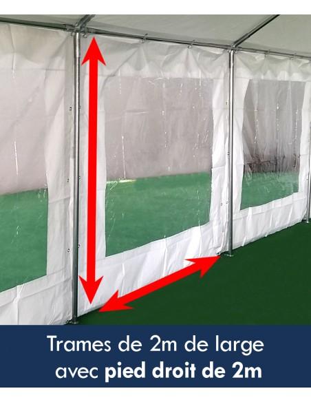 Tente de réception - Chapiteau ECO en PE de 5m x 10m avec Tubes de 38mm