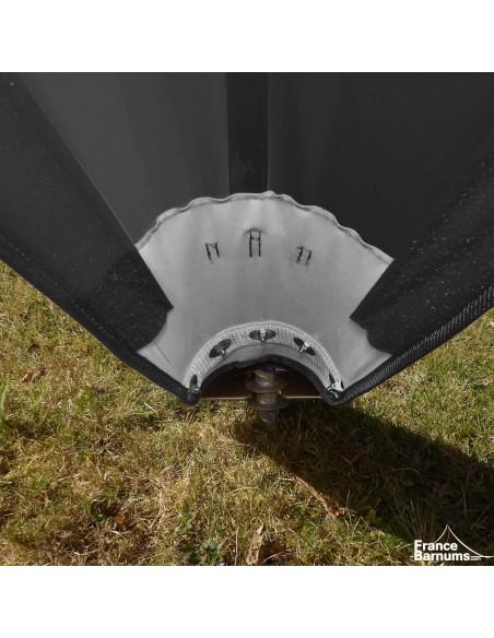 Tente de réception - Tente étoile NOIRE Diamètre 10m - Aluminium + Polyester 230g/m²