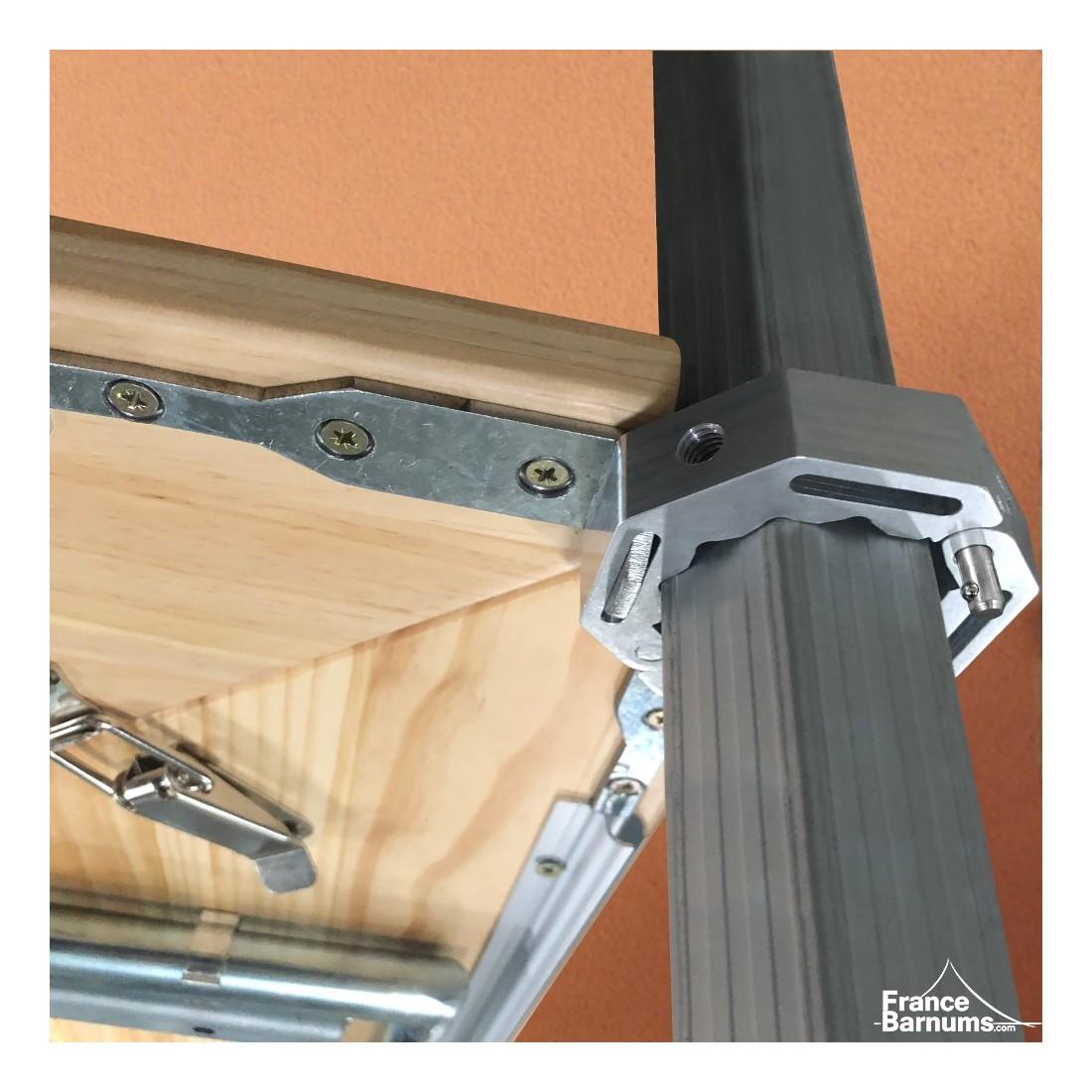 connecteur de table comptoir buvette 45mm pour barnum. Black Bedroom Furniture Sets. Home Design Ideas