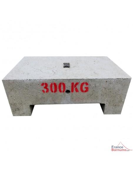 Masse d'ancrage 300kg en béton moulé pour tente pliante ou toute structure temporaire