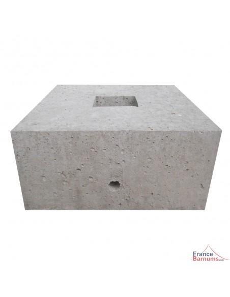 Bloc d'ancrage en béton moulé de 70kg pour arrimage ou haubanage grandes structures