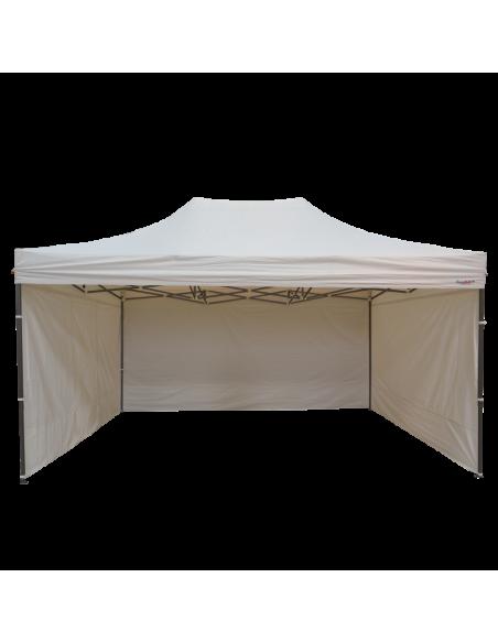 Barnum pliant - Tonnelle Acier Semi Pro 3mx4,5m BLANC avec Pack 4 Côtés