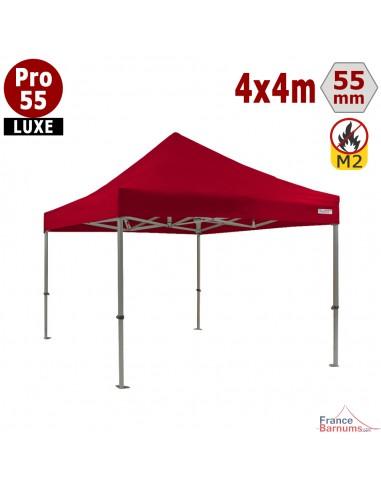 Barnum professionnel ROUGE 4x4 avec bâche de toit en PVC 580g/m2