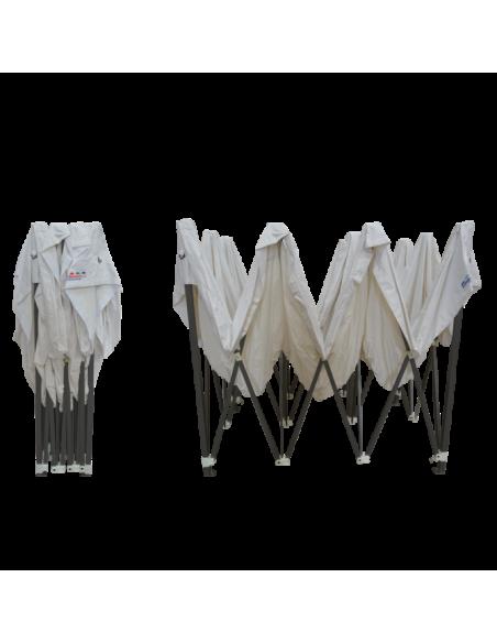 Barnum pliant - Tonnelle Acier Semi Pro 3mx4,5m BLANC avec Pack Fenêtres