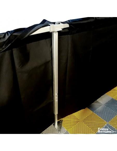Barre télescopique DEMI-MUR de 4m à 4,5m en aluminium avec pied de renfort