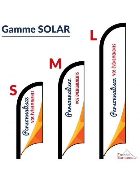 Oriflamme Drapeau SOLAR imprimée - Taille Small, Medium ou Large