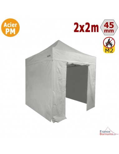 Stand pliant Acier Premium 2x2m + Pack Côtés
