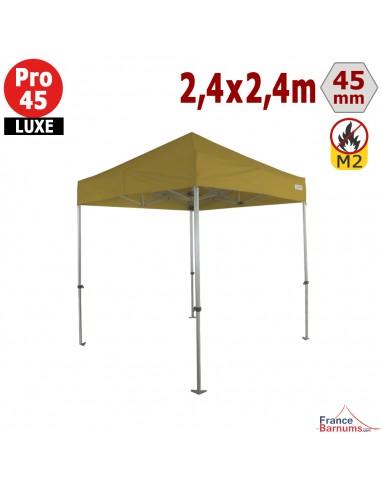 Barnum pliant - Tente pliante Alu Pro 45 LUXE M2 2,4mx2,4m VERT DORÉ 380gr/m²
