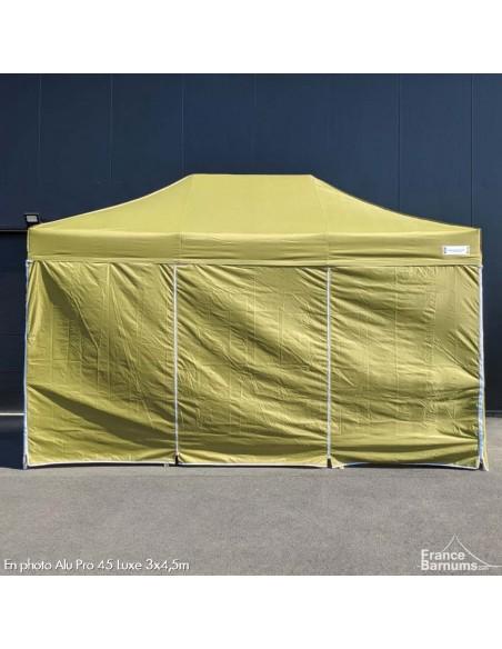 barnum pliant en aluminium vert doré avec pack mur