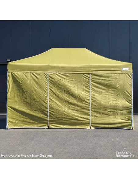 stand pliant usage intensif vert doré avec murs