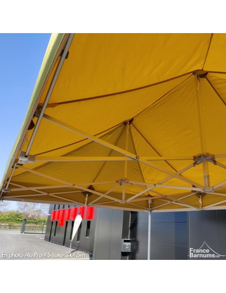 Structure barnum pliant vert doré